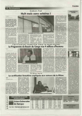 Congo Basin Program in Gabonese newspaper